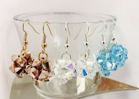 Crystal Ball Beadwork Earring Kit with SWAROVSKI® ELEMENTS - You select the colour